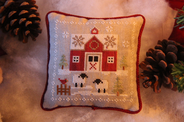 cross stitch Farmhouse Christmas Little Red Barn